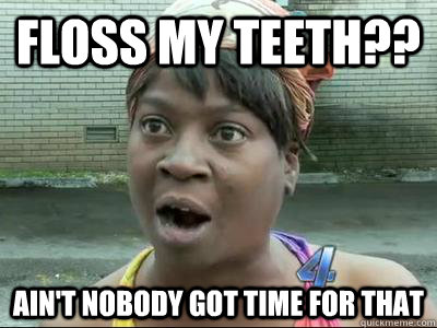 Floss Teeth Meme