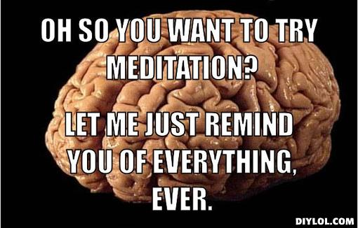 Meditation Meme - Brain