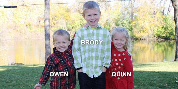 Owen, Brody, & Quinn Burgess