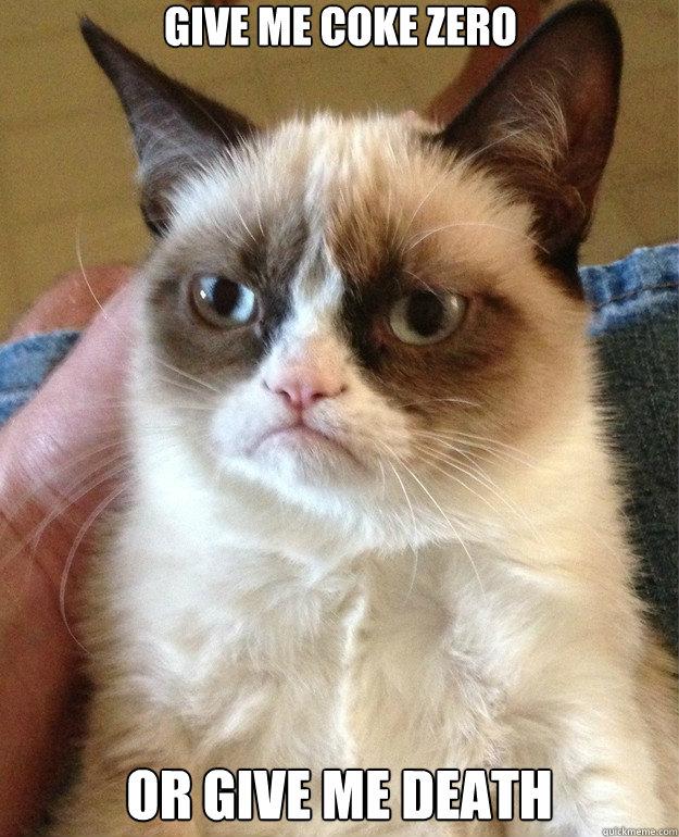 Grumpy Cat Coke Zero